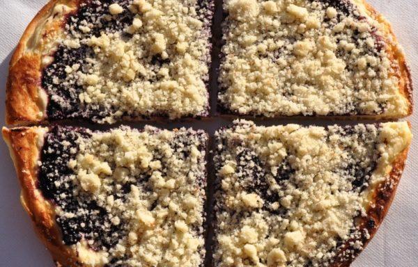 314 – Borůvkový koláč krájený